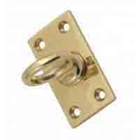 Brass/Chrome Eye Plate for hook