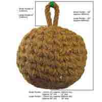 Traditional Round Coir Rope Fender