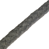 8 Plait Cotton Rope 6mm GREY
