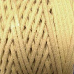 Natural Braided Cotton Cord (4mm) - Click Image to Close