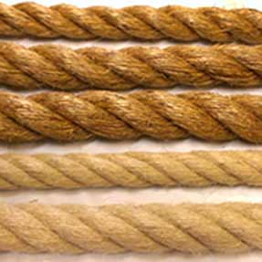 Battle Rope: Natural Fibre Battling Rope / Power Rope - Click Image to Close