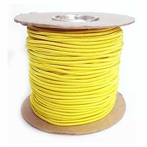 Reel: 100m x 3mm yellow shockcord