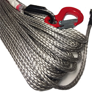 Marlow Winch Rope: 30m x 9.5mm with hook