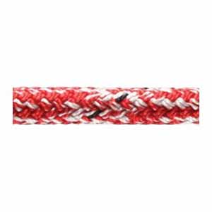 6mm x 25m Red Marble Doublebraid