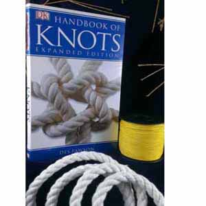 Gift Set: Handbook of Knots, Cotton rope and minispool (VI)