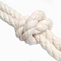Cotton Rope - 100% natural 3 strand