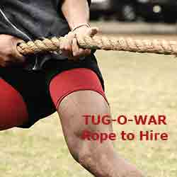 Tug of War Rope : To Hire